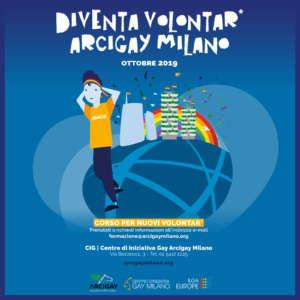 Diventa Volontar Arcigay Milano Banner